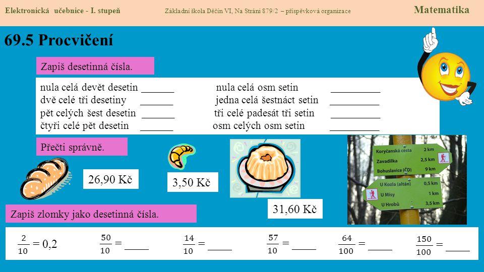69.5 Procvičení Elektronická učebnice - I.