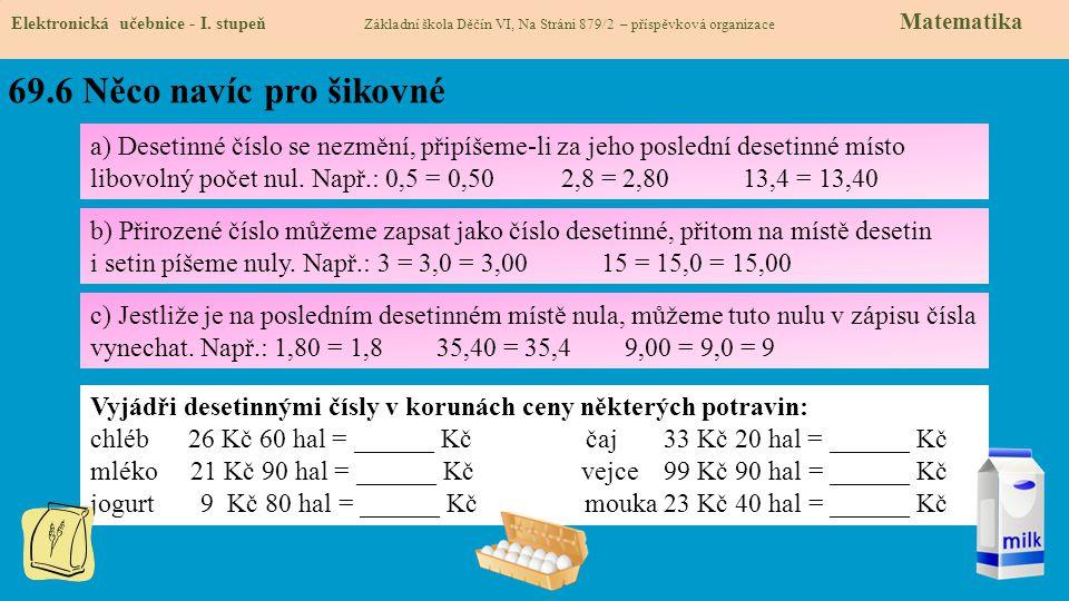 69.6 Něco navíc pro šikovné Elektronická učebnice - I.