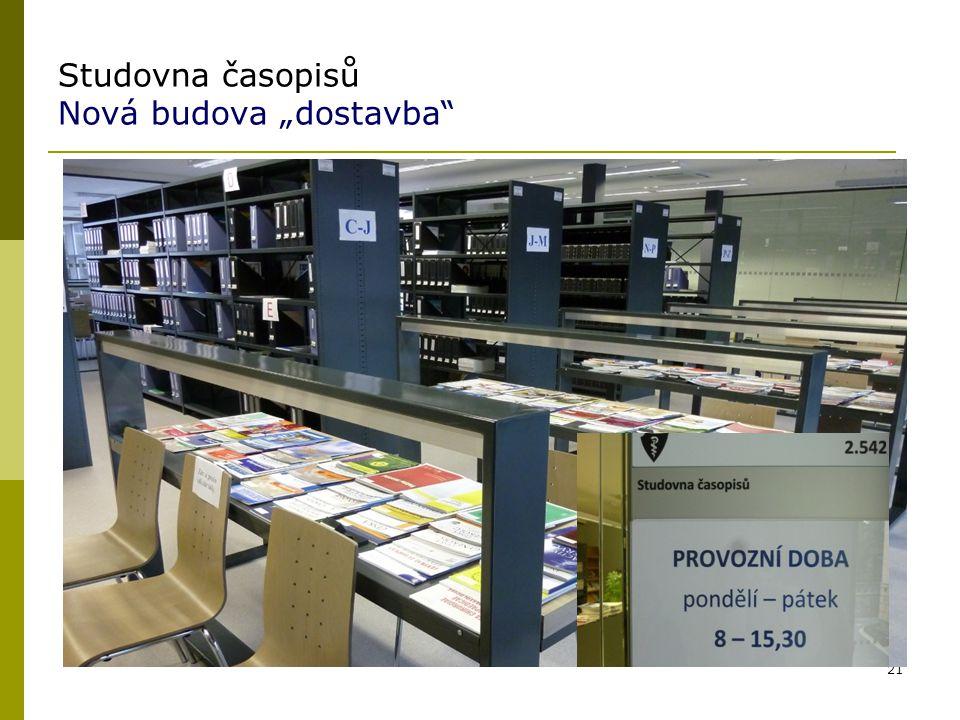 """Studovna časopisů Nová budova """"dostavba"""" 21"""