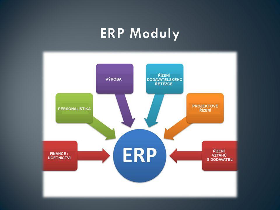 Vytváření a aktualizování rozsáhlých datových bází Realizace operačních procesů Vytváření a prezentování přehledů, statistik a analýz Komunikace s ostatními softwary (CRM,ECM…)