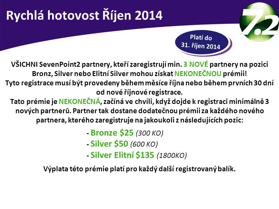 RYCHLÁ HOTOVOST VŠICHNI SevenPoint2 partnery, kteří zaregistrují min.
