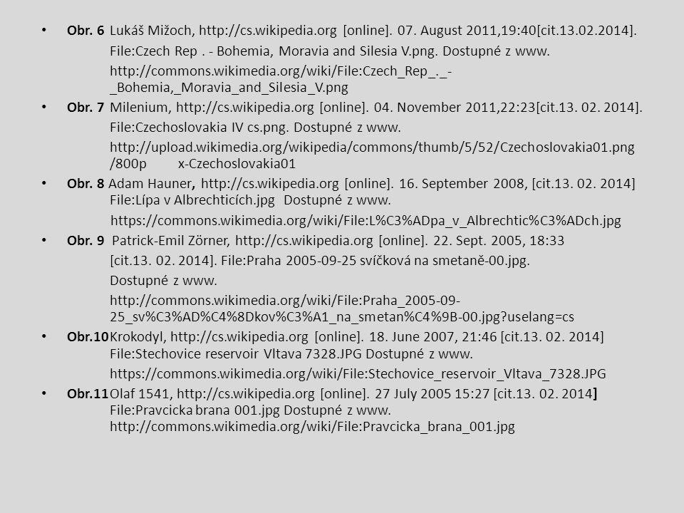 Obr. 6Lukáš Mižoch, http://cs.wikipedia.org [online]. 07. August 2011,19:40[cit.13.02.2014]. File:Czech Rep. - Bohemia, Moravia and Silesia V.png. Dos