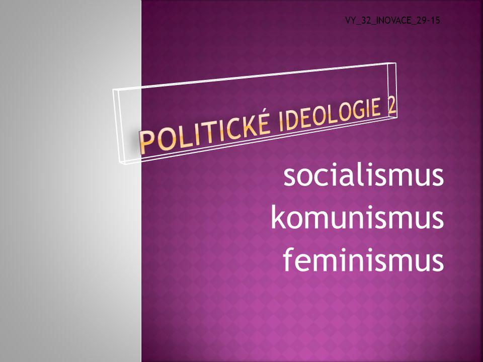  Kate Milletová  dílo: Sexuální politika (1969)  Aktivita dnešních feministek  šíření osvěty, zakládání spolků  organizace kampaní, které se týkají domácího násilí, potratů, stejných odměn za práci  usilují o zastoupení ve vládách svých zemí  Liberální proud – snaha postavit ženu na úroveň muže  Socialistický proud – ženy mohou svých práv dosáhnout jen svržením řádu, který je ovládán muži