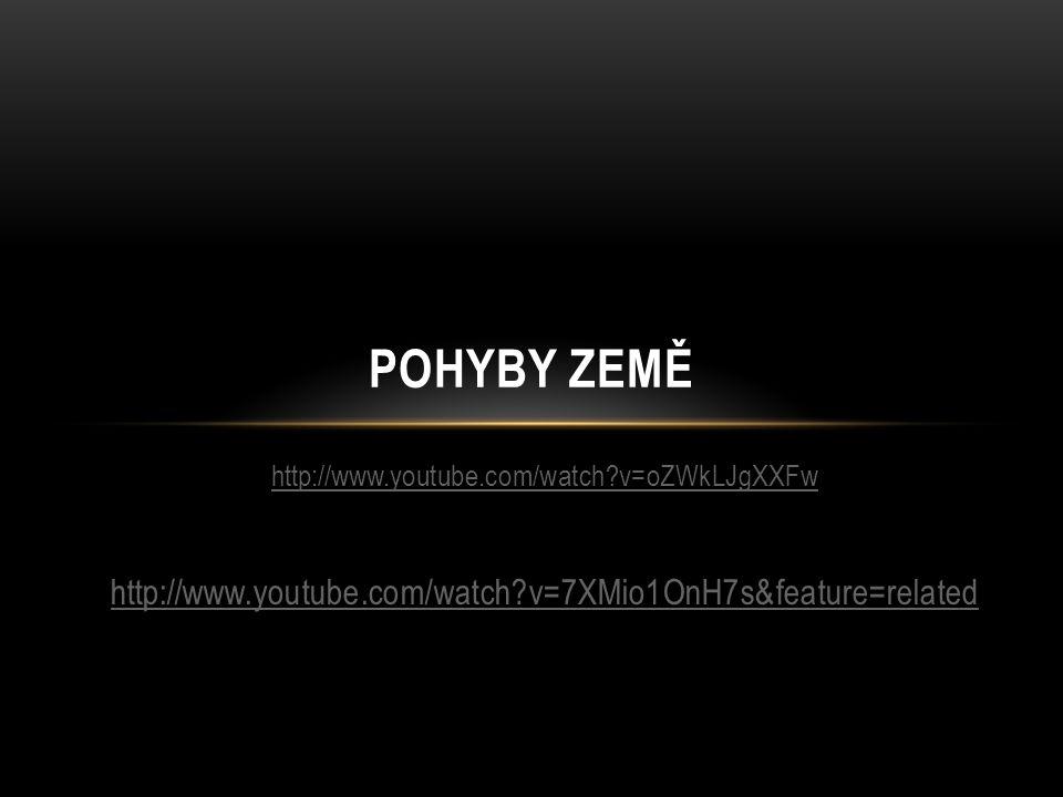 http://www.youtube.com/watch?v=oZWkLJgXXFw http://www.youtube.com/watch?v=7XMio1OnH7s&feature=related POHYBY ZEMĚ