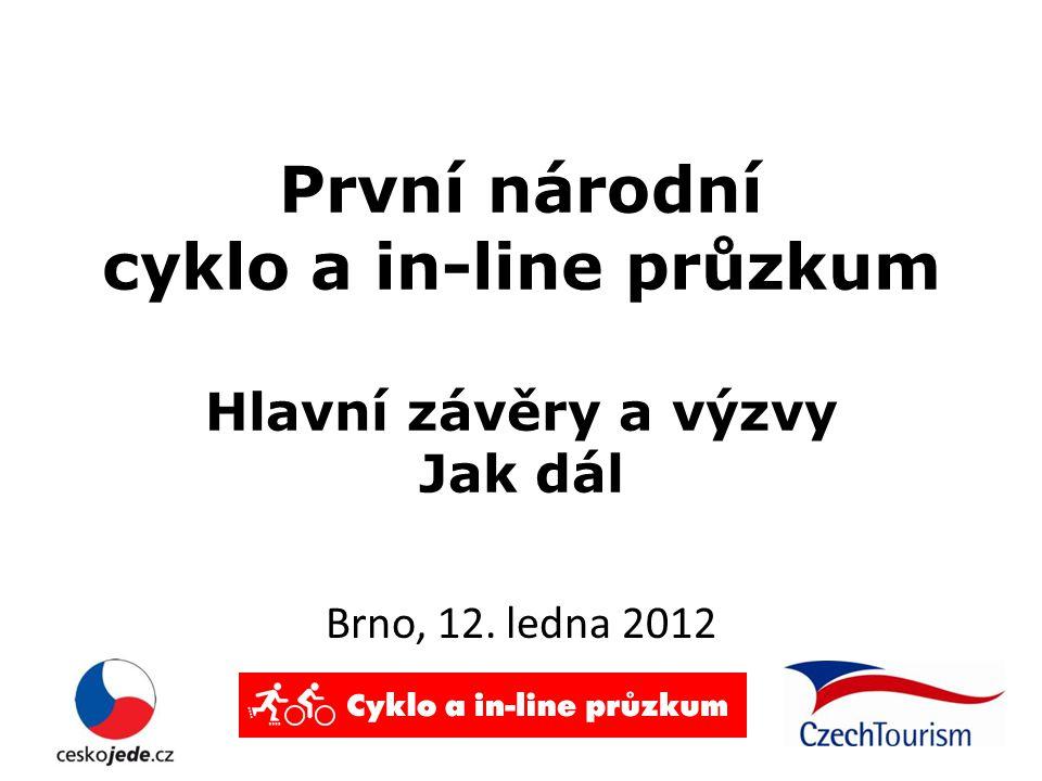 První národní cyklo a in-line průzkum Hlavní závěry a výzvy Jak dál Brno, 12. ledna 2012