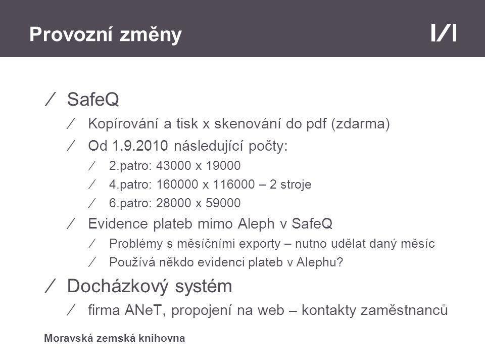 Moravská zemská knihovna Nový web ⁄Redakční systém Drupal ⁄Modularita – př.