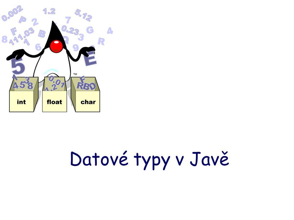 Datové typy v Javě