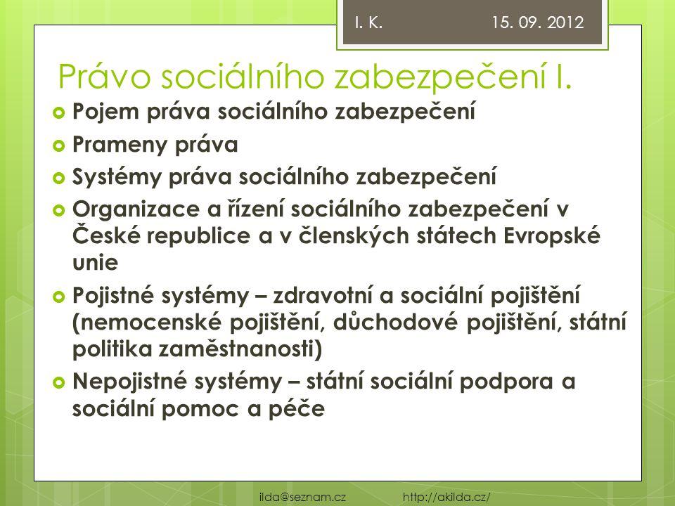 Právo sociálního zabezpečení I.