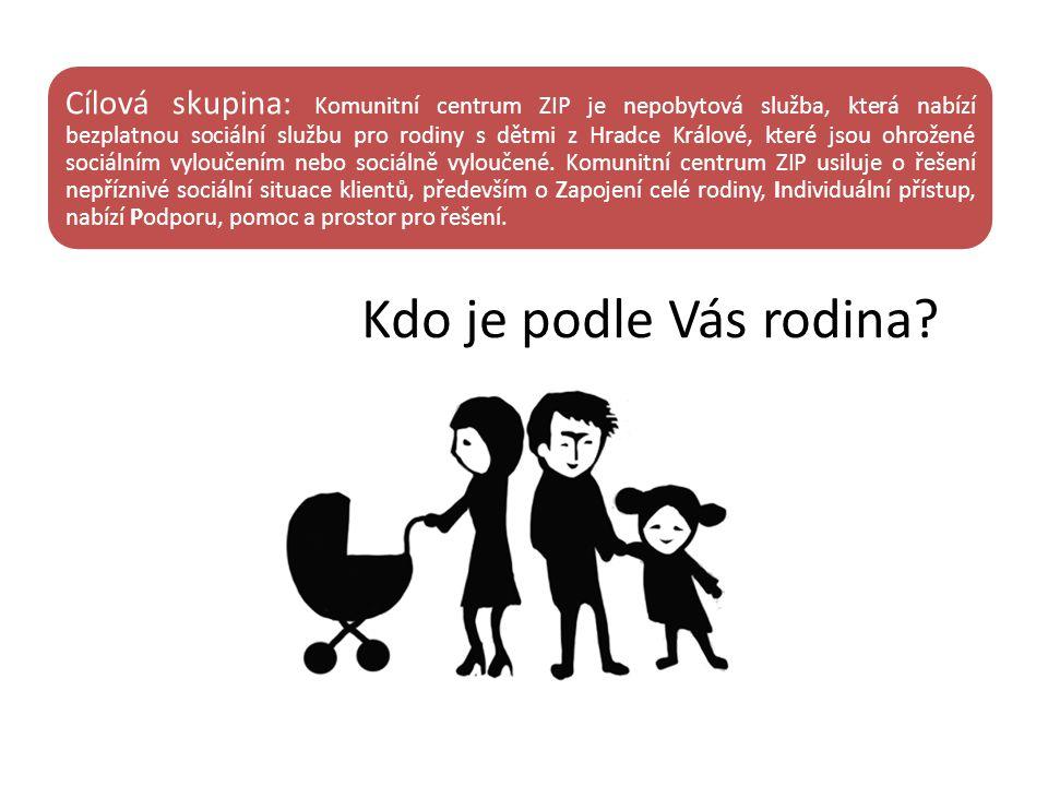 Cílová skupina: Komunitní centrum ZIP je nepobytová služba, která nabízí bezplatnou sociální službu pro rodiny s dětmi z Hradce Králové, které jsou oh