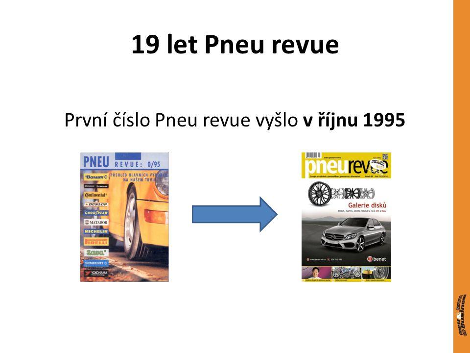 19 let Pneu revue První číslo Pneu revue vyšlo v říjnu 1995