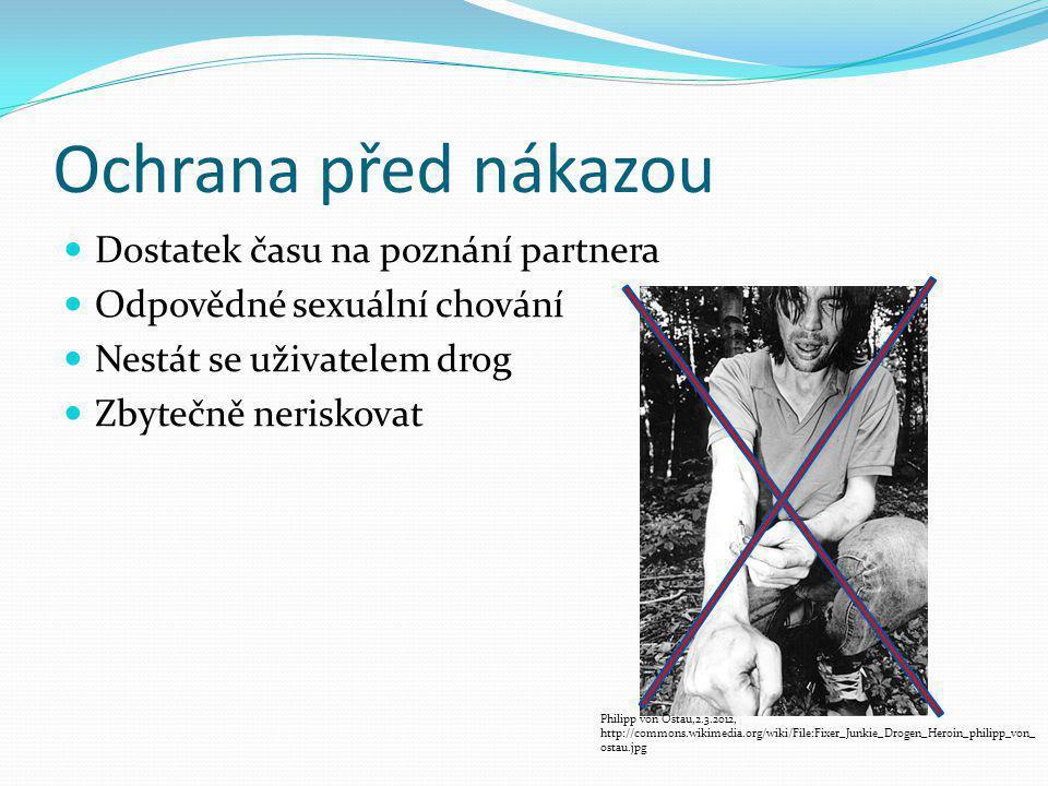 Ochrana před nákazou Dostatek času na poznání partnera Odpovědné sexuální chování Nestát se uživatelem drog Zbytečně neriskovat Philipp von Ostau,2.3.