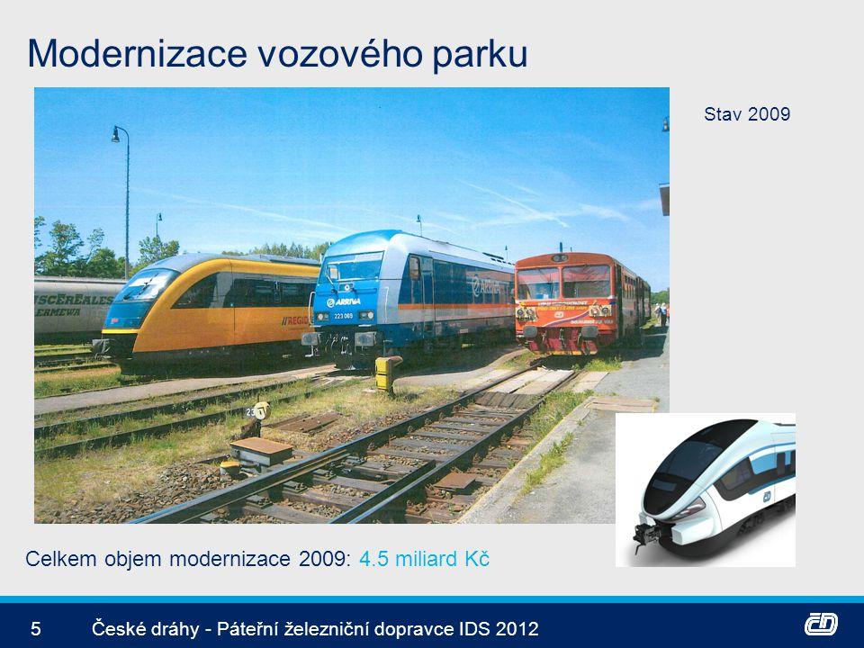 Modernizace vozového parku 6České dráhy - Páteřní železniční dopravce IDS 2012