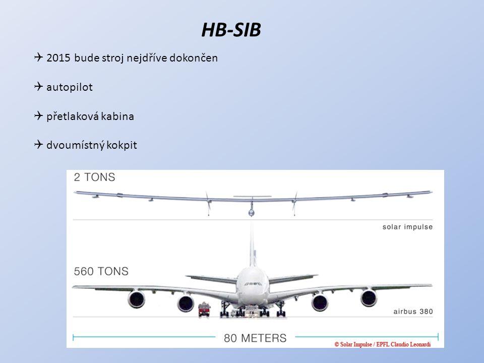 HB-SIB  2015 bude stroj nejdříve dokončen  autopilot  přetlaková kabina  dvoumístný kokpit