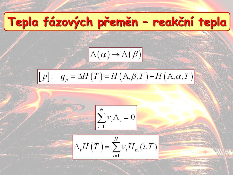 10 Tepla fázových přeměn – reakční tepla