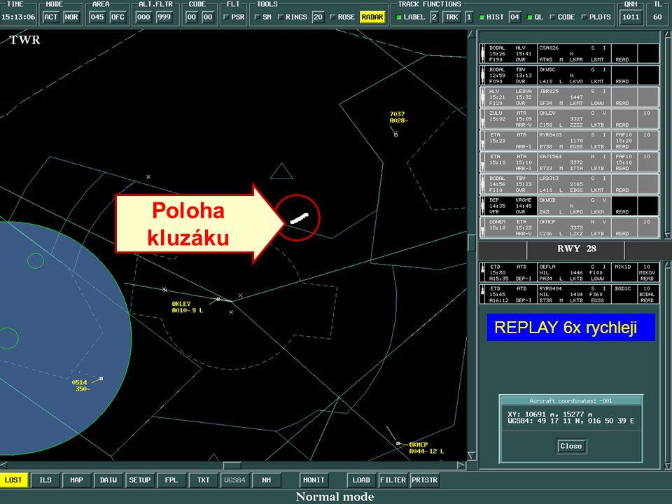 RYR8403 x kluzák průběh letu CTR / TMA LKTB 11.6.2007 15:06 – 15:38 UTC Zdroj radarových dat ALS LKTB