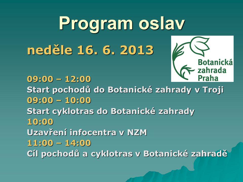Program oslav neděle 16.6.