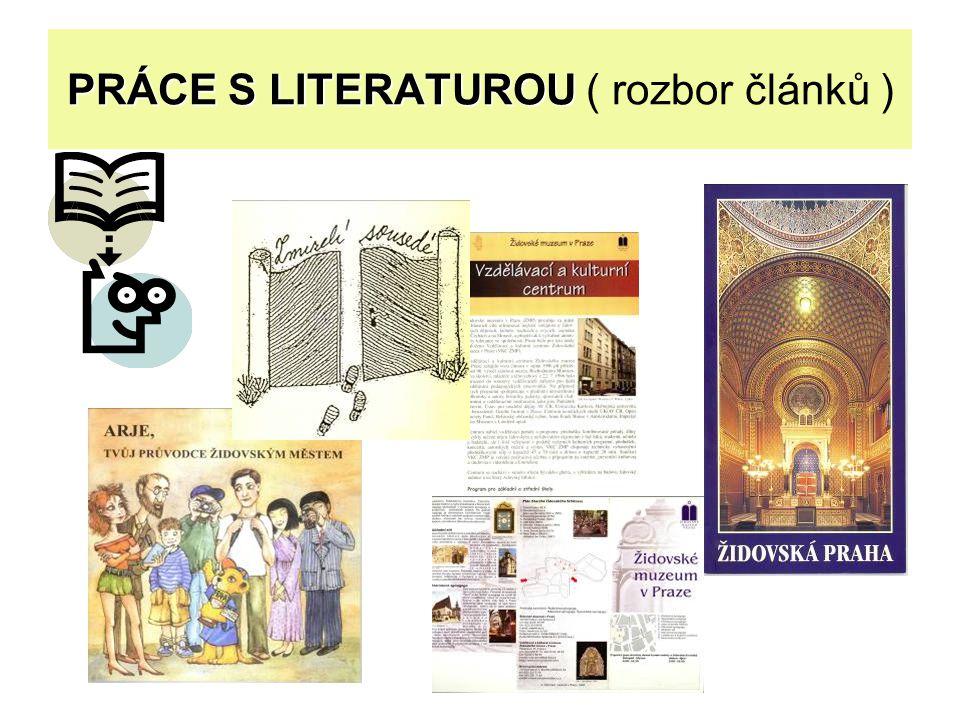 PRÁCE S LITERATUROU PRÁCE S LITERATUROU ( rozbor článků )