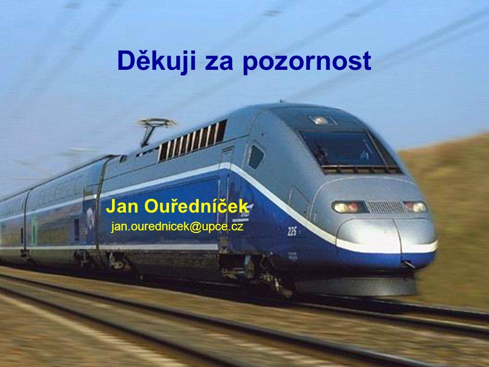 """""""Aplikace ERTMS/ETCS v ČR"""", Pardubice 1925. a 26.10.2004 Děkuji za pozornost Jan Ouředníček jan.ourednicek@upce.cz"""