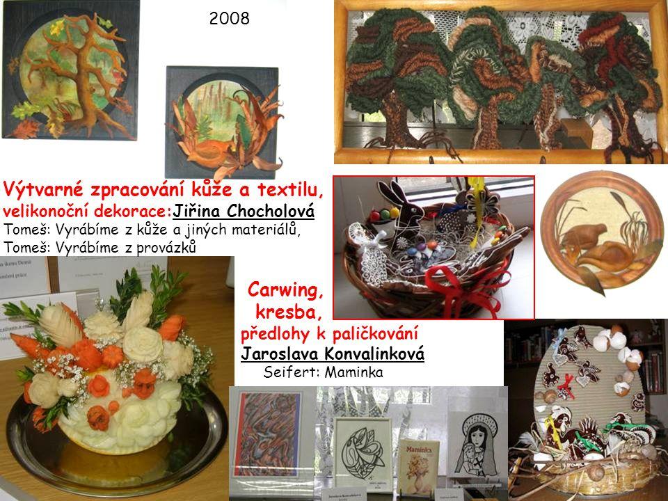 2008 Výtvarné zpracování kůže a textilu, velikonoční dekorace:Jiřina Chocholová Tomeš: Vyrábíme z kůže a jiných materiálů, Tomeš: Vyrábíme z provázků