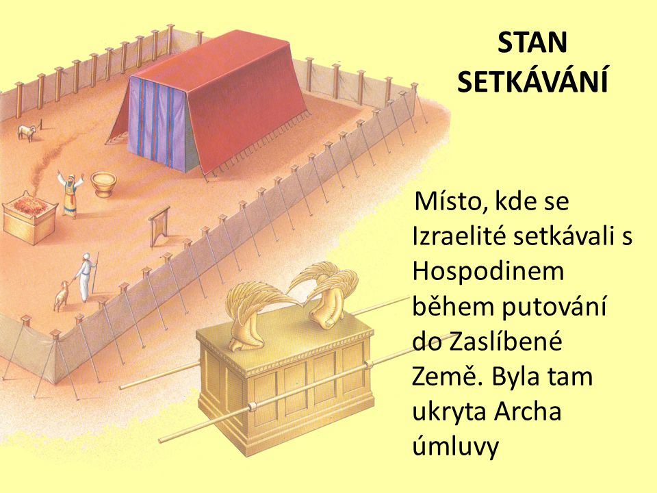 STAN SETKÁVÁNÍ Místo, kde se Izraelité setkávali s Hospodinem během putování do Zaslíbené Země.