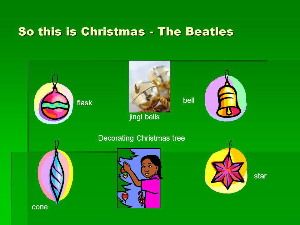 So this is Christmas - The Beatles bell star Decorating Christmas tree flask cone jingl bells