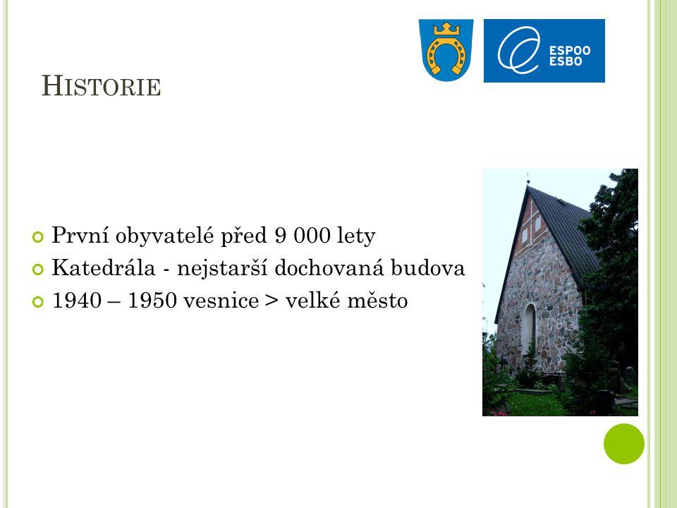 H ISTORIE První obyvatelé před 9 000 lety Katedrála - nejstarší dochovaná budova 1940 – 1950 vesnice > velké město