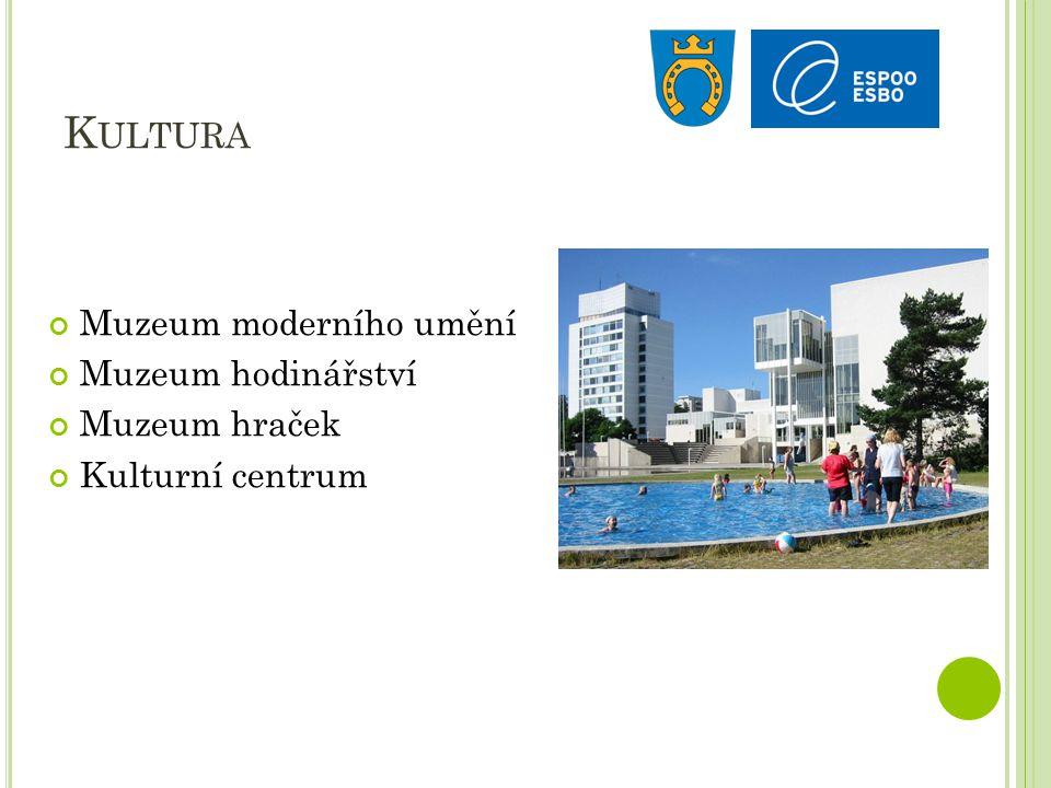 K ULTURA Muzeum moderního umění Muzeum hodinářství Muzeum hraček Kulturní centrum