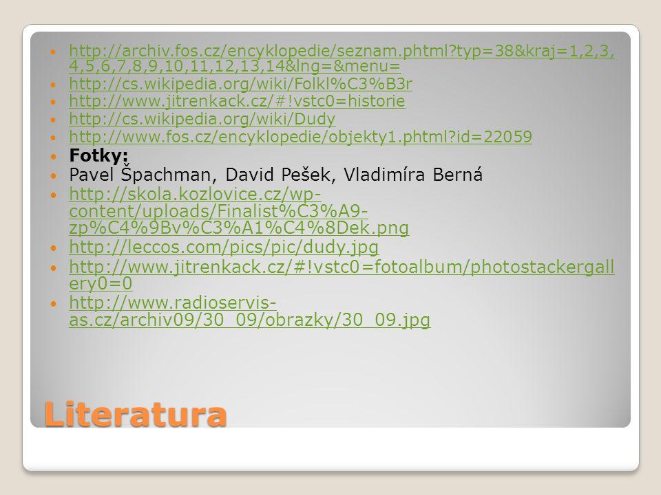 Literatura http://archiv.fos.cz/encyklopedie/seznam.phtml?typ=38&kraj=1,2,3, 4,5,6,7,8,9,10,11,12,13,14&lng=&menu= http://archiv.fos.cz/encyklopedie/s