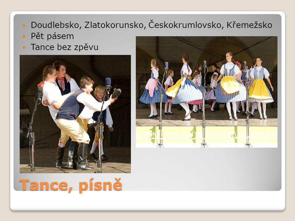 Tance, písně Doudlebsko, Zlatokorunsko, Českokrumlovsko, Křemežsko Pět pásem Tance bez zpěvu