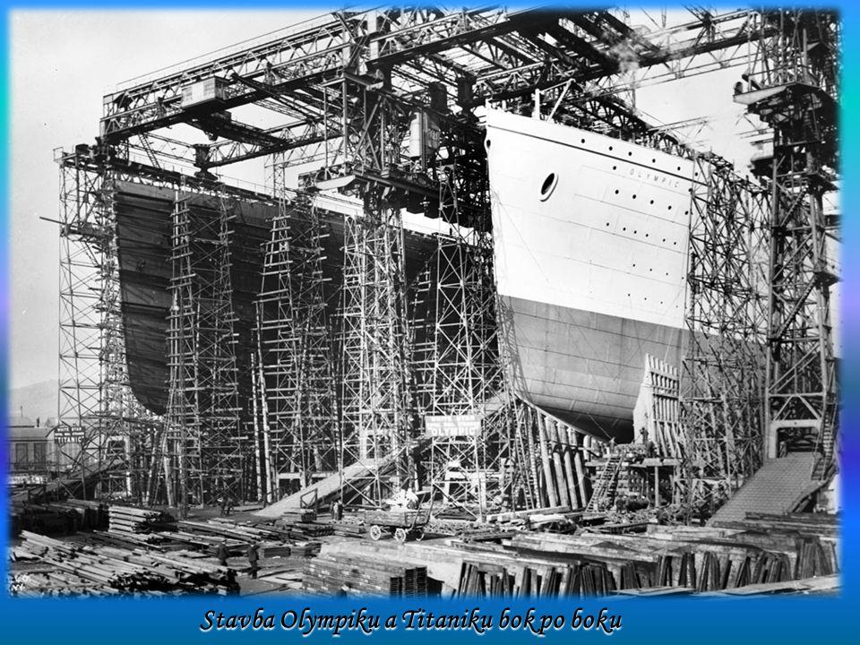 Stavba Olympiku a Titaniku bok po boku