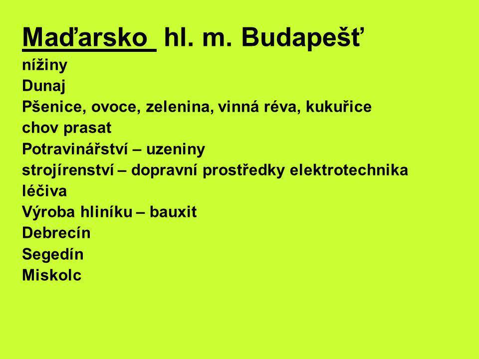 Maďarsko hl. m.