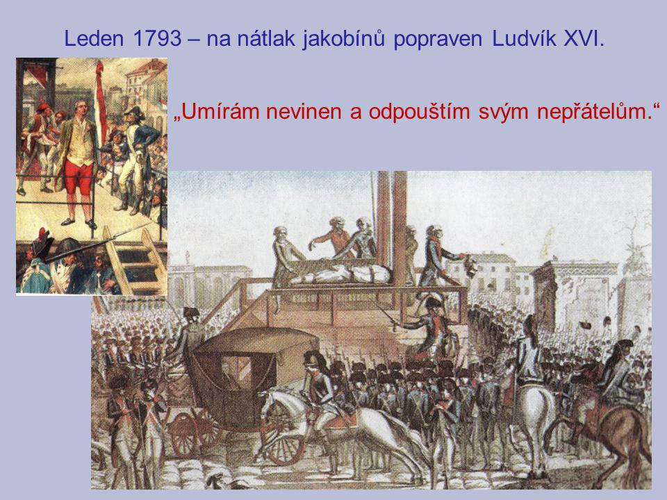 """Leden 1793 – na nátlak jakobínů popraven Ludvík XVI. """"Umírám nevinen a odpouštím svým nepřátelům."""""""