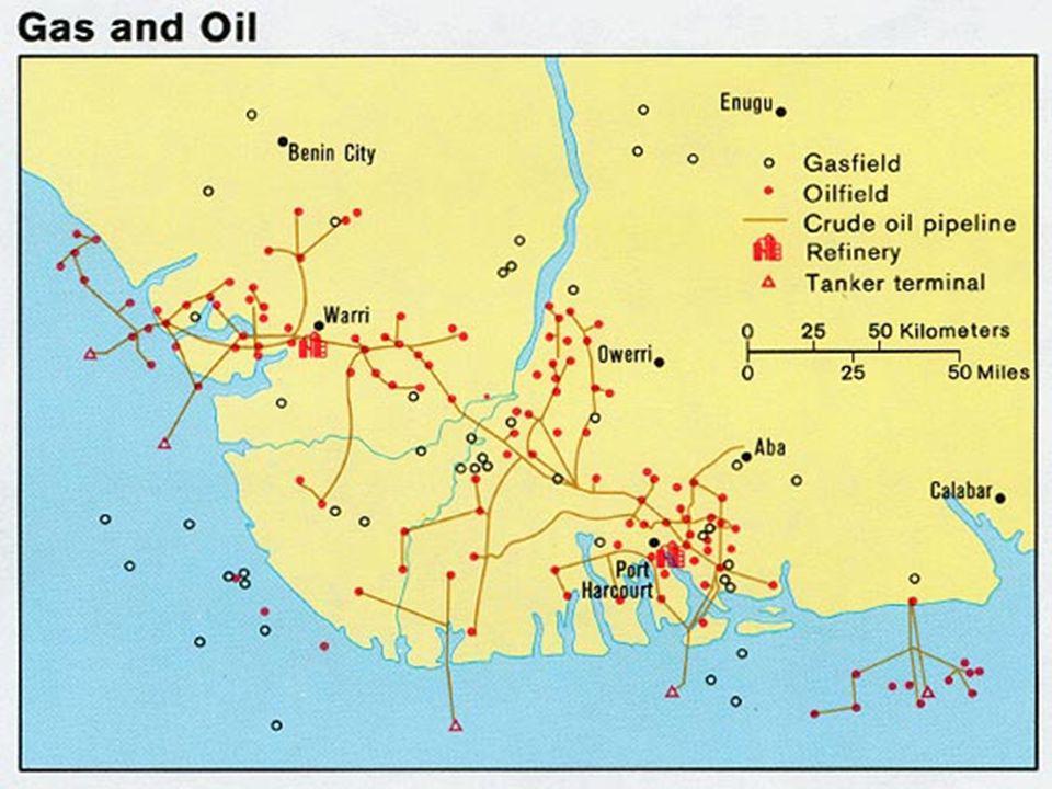 Nigérie je 6.největším exportérem ropy 60% těžebních polí vlastní Royal Dutch/Shell Od roku 1958, kdy těžba ropy touto společností začala, byly zabity tisíce obyvatel, kteří s těžbou a devastací přírody a životního prostoru nesouhlasili.