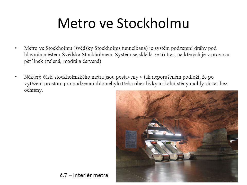 Metro ve Stockholmu Metro ve Stockholmu (švédsky Stockholms tunnelbana) je systém podzemní dráhy pod hlavním městem Švédska Stockholmem. Systém se skl