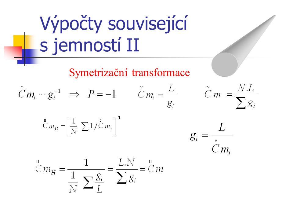 Výpočty související s jemností II Symetrizační transformace