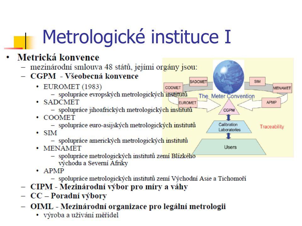 Metrologické instituce I
