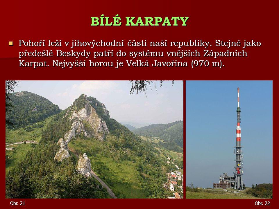 Pohoří leží v jihovýchodní části naší republiky. Stejně jako předešlé Beskydy patří do systému vnějších Západních Karpat. Nejvyšší horou je Velká Javo