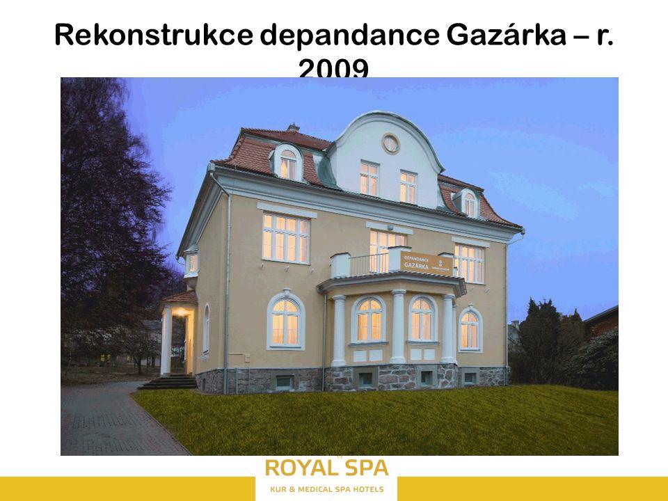 Rekonstrukce depandance Gazárka – r. 2009