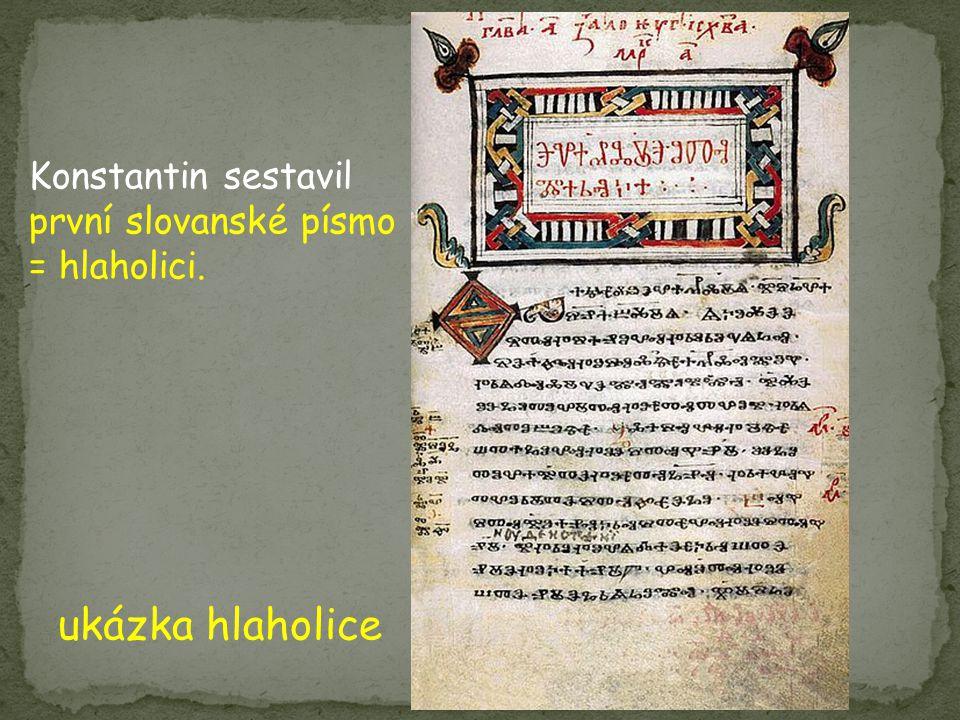 ukázka hlaholice Konstantin sestavil první slovanské písmo = hlaholici.