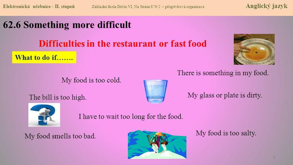 62.7 Food menu Elektronická učebnice - II.