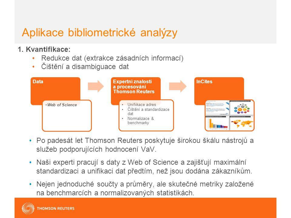 Aplikace bibliometrické analýzy 1.