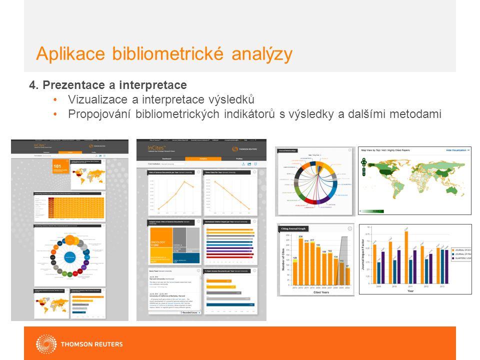 Aplikace bibliometrické analýzy 4.