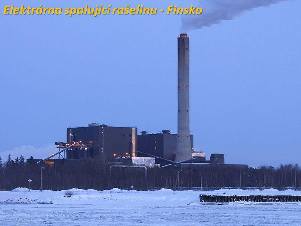 Elektrárna spalující rašelinu - Finsko