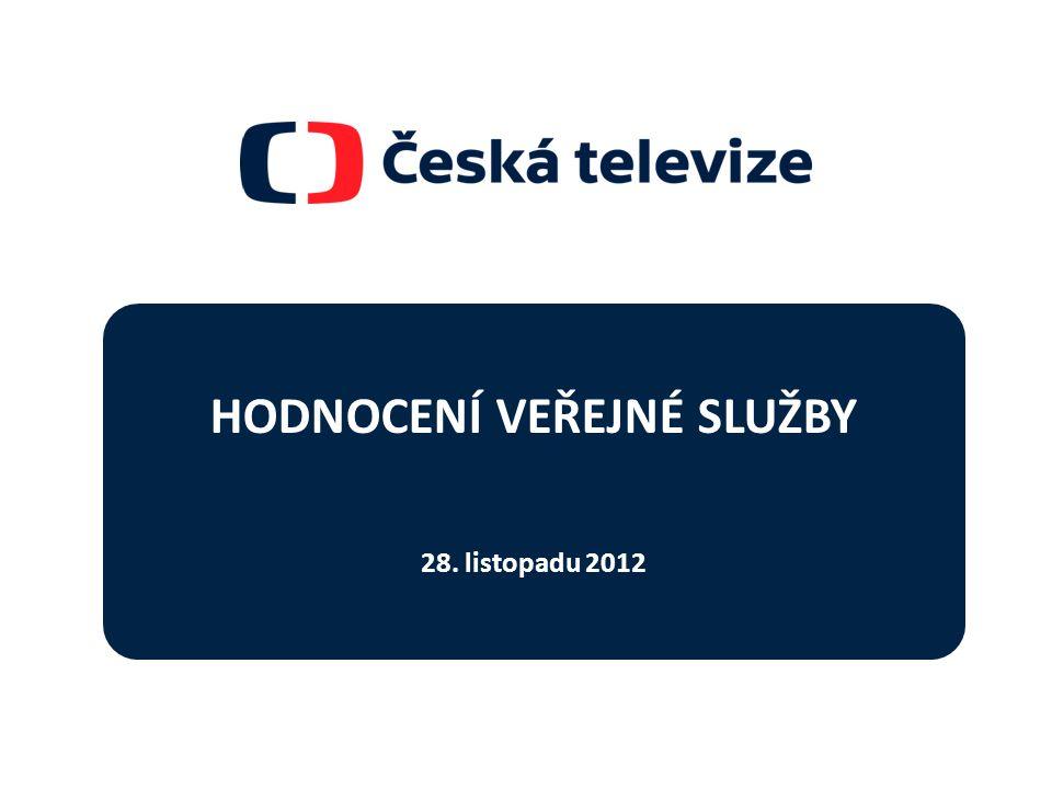 HODNOCENÍ VEŘEJNÉ SLUŽBY 28. listopadu 2012