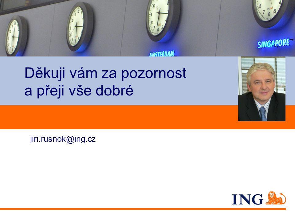 Do not put content on the brand signature area Děkuji vám za pozornost a přeji vše dobré jiri.rusnok@ing.cz