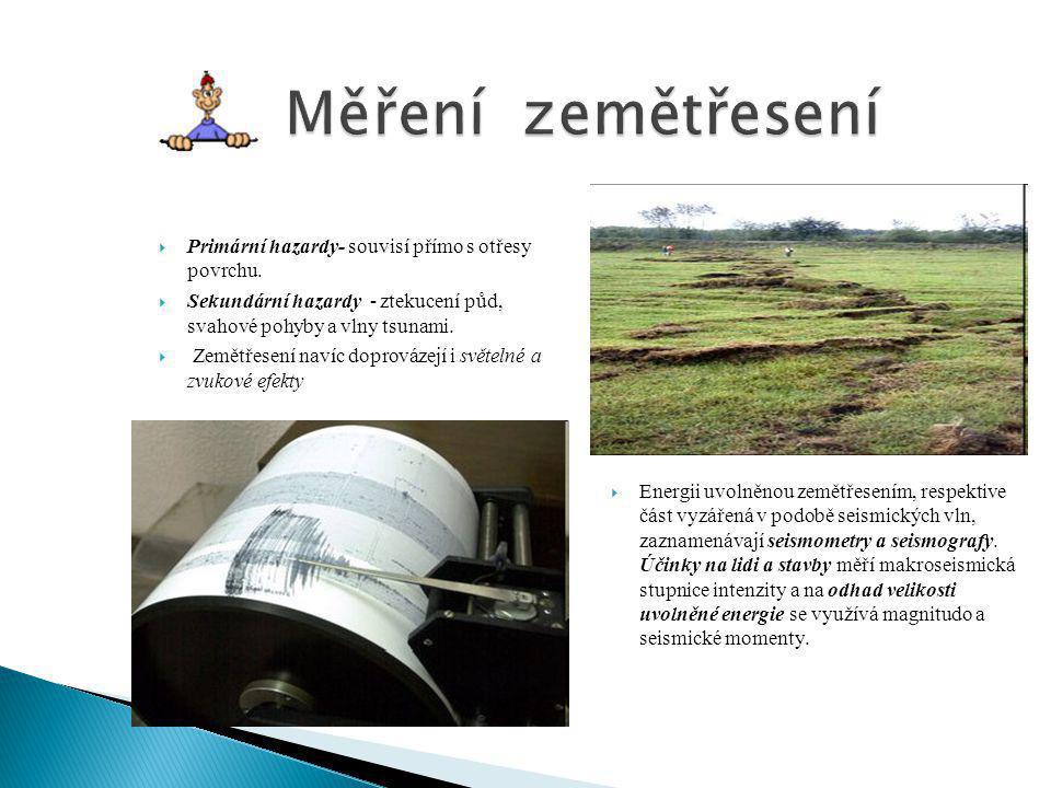  Makroseismické účinky zemětřesení jsou účinky zemětřesení, které se projevují v přírodě, na budovách a lidech v určité lokalitě.