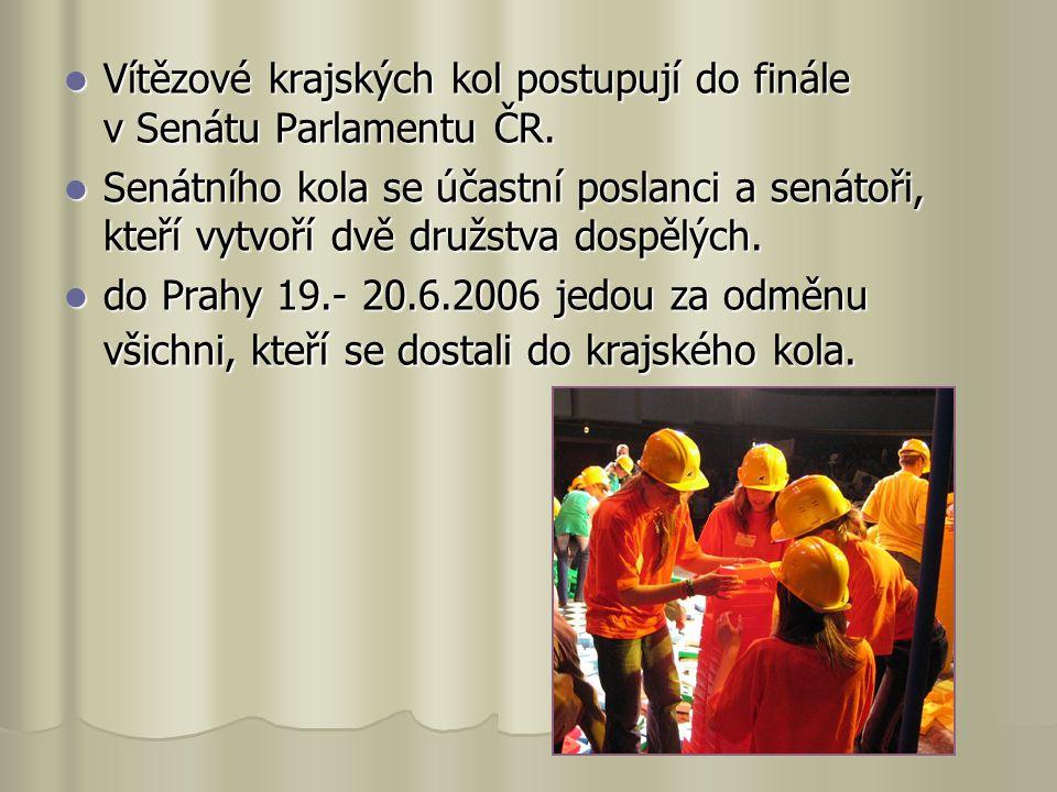 Vítězové krajských kol postupují do finále v Senátu Parlamentu ČR.