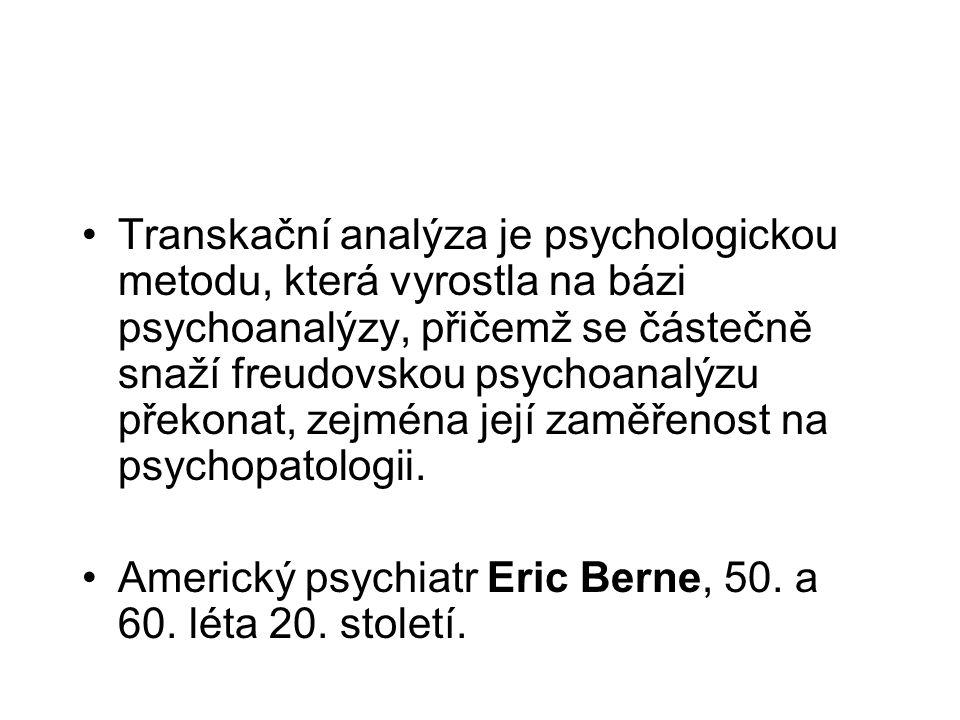 Transkační analýza je psychologickou metodu, která vyrostla na bázi psychoanalýzy, přičemž se částečně snaží freudovskou psychoanalýzu překonat, zejména její zaměřenost na psychopatologii.