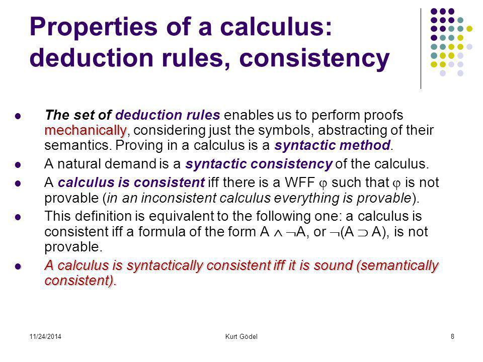 11/24/2014Kurt Gödel29 Summary and outline of the Proof 1.