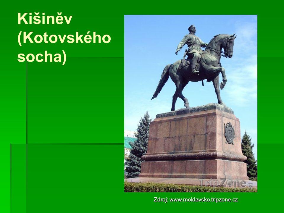Kišiněv (Kotovského socha) Zdroj: www.moldavsko.tripzone.cz